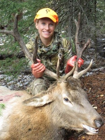 Christie_Barnes with CO elk