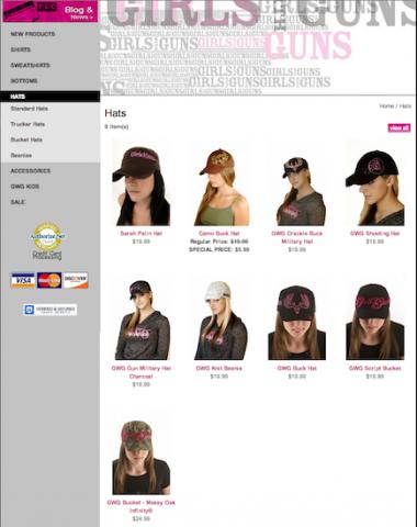 girlswithguns hats