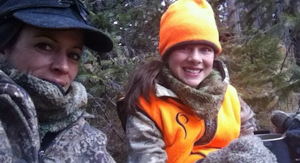 Mia Anstine and daughter elk hunting