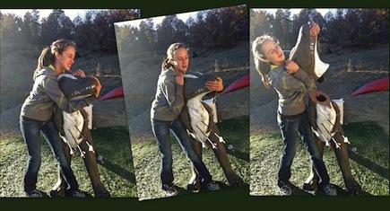 wrestling a dinosaur archery target