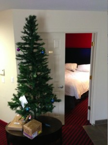 Christmas tree in hotel Hyatt
