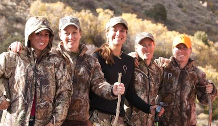 Women's Outdoor News crew Prois falconers