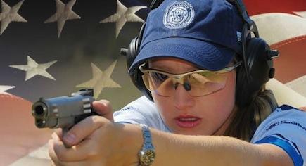 Julie Golob shoots Smith & Wesson gun