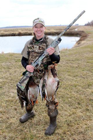 Julie Golob duck hunt