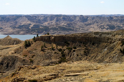Elk country along the coast of Fort Peck Lake, Montana.