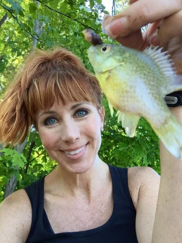 small pond fishing anietra hamper