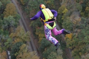 Denise Sanders jumping - photo-Whitewater Photography