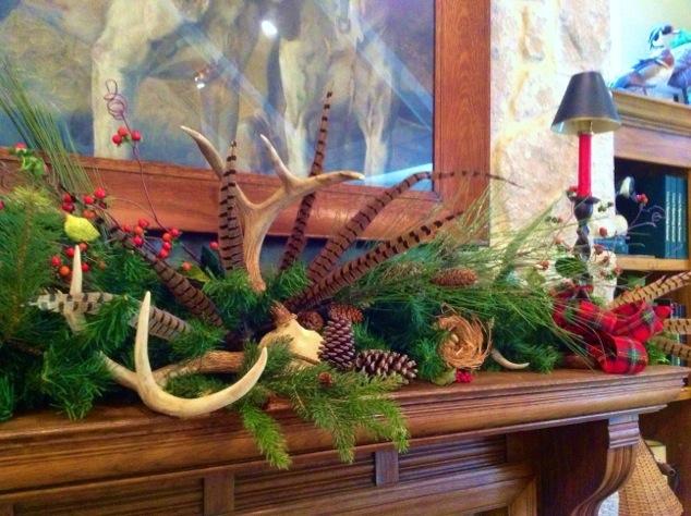 Heritage-Game-Mounts-Christmas-antler-mantle-Decorating
