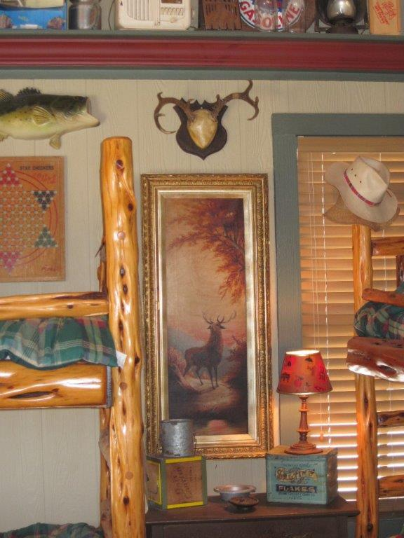 Heritage-Game-Mounts-Hunting-Lodge-February-Cabin-elk-painting