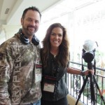 "Skull Bound TV's Jim Kinsey and Jana Waller took a break from getting a time-lapse photo. Jana presented on a seminar on ""Women's Role in Protecting Our Hunting Heritage."""
