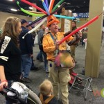 Every year, this balloon guy enthralls children with his marvelous balloon creations.