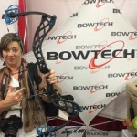 BOWTECH had one of its Eva Shockey Signature Series bows unhand for our Babbs to hold.