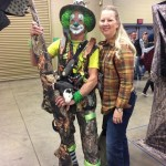 Marti Davis found the Camo Clown on his way to do a show for the kids in the Family Adventure Village.