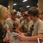 Annetta Morris was a good sport and talked to several youth from the Youth Wildlife Conservation Experience during their scavenger hunt at the show. Annetta and husband, Callie, own Hazel Creek Taxidermy and star on video and TV shows.