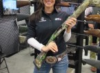 Here's Jessie Duff, from NRA All Access on the Outdoor Channel, and of course, professional championship competition shooter. She's holding a Weatherby SA-459 for turkey hunting.
