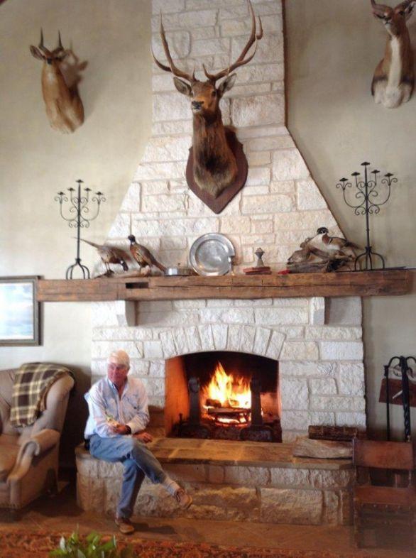 Elk mount fireplace - photo#32