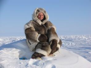Alaskan women, hunting, caribou, parka