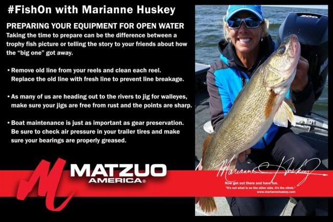 Matzuo America, fishing, open water, fishing equipment