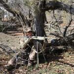 Woman turkey hunting