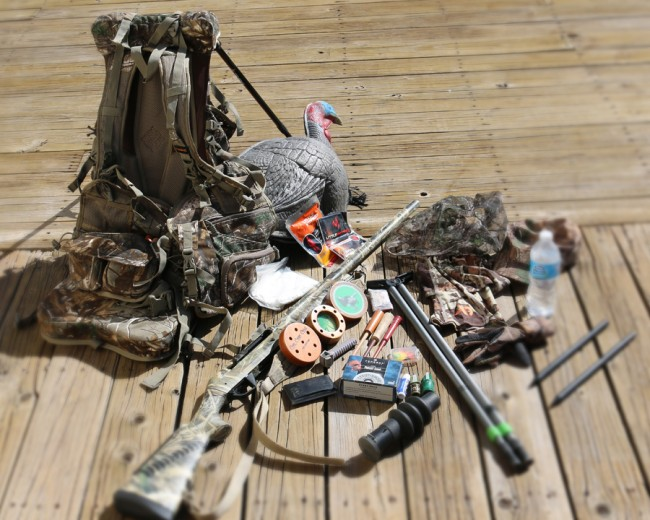 Turkey hunting pack necessities