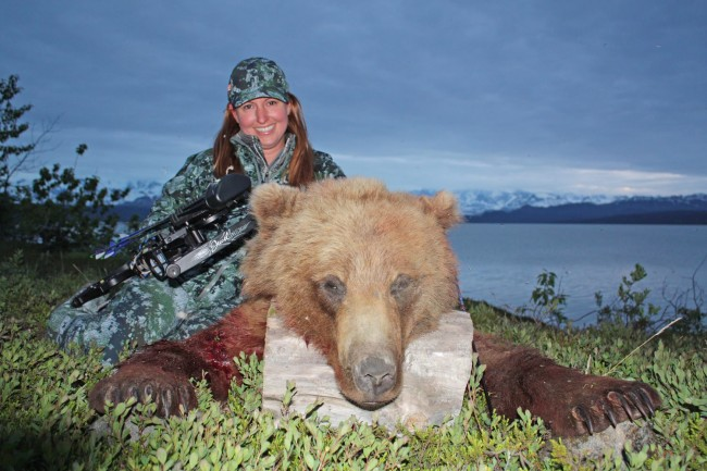 Alaskan Women, brown bear,