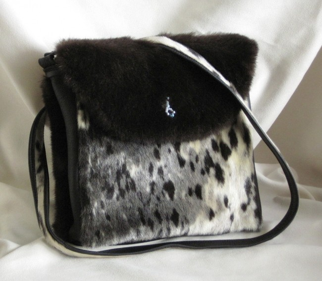 Alaskan women, seal skin, purse