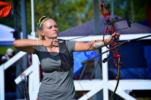 Olympic women archery Brown