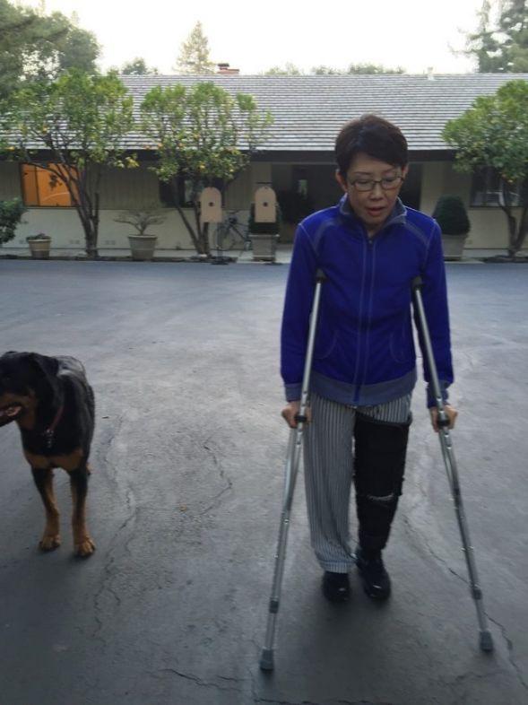 Vera Koo crutches