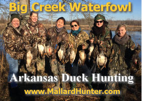 Big Creek Waterfould Arkansas Duck Hunting