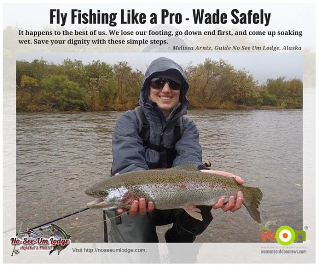 Fly fishing with alaskan guides wade safely and avoid slips for Fly girl fishing charters