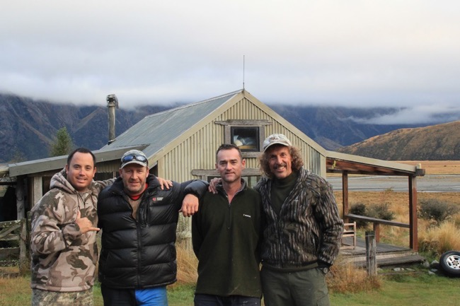Two friends from Hawaii at the tahr cabin, Central South Island Hunting, New Zealand-Lora-Gene- Affordable hunting