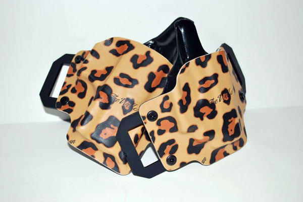 the well armed woman owb holster in leopard
