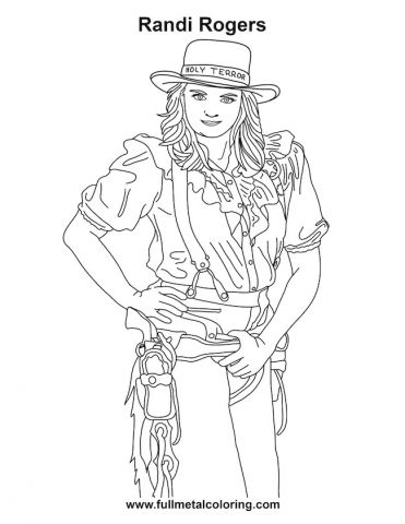 Randi -- feature- full metal coloring book
