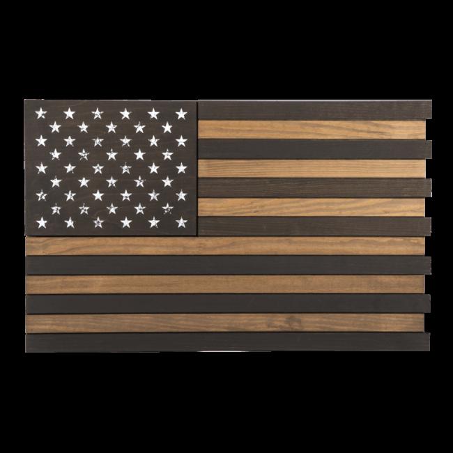nineline wooden flag