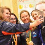 Meet & Mingle Olympians selfie