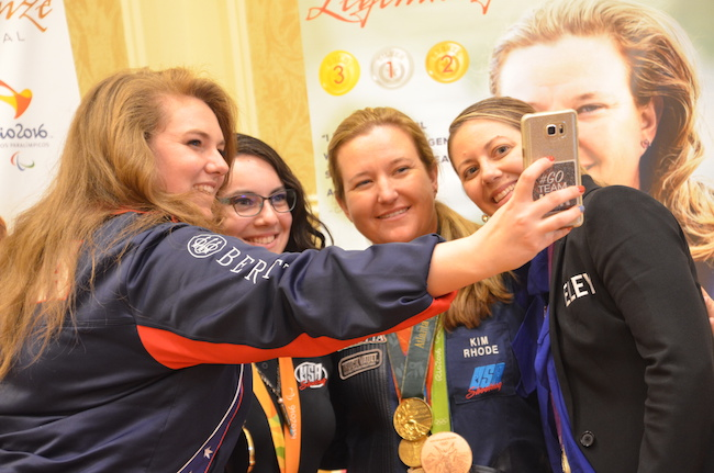 Meet & Mingle Olympians selfie