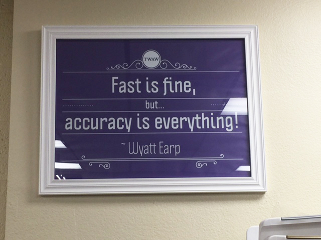 Wyatt Earp on accuracy