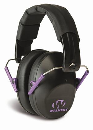 Walker low profile-purple earmuffs