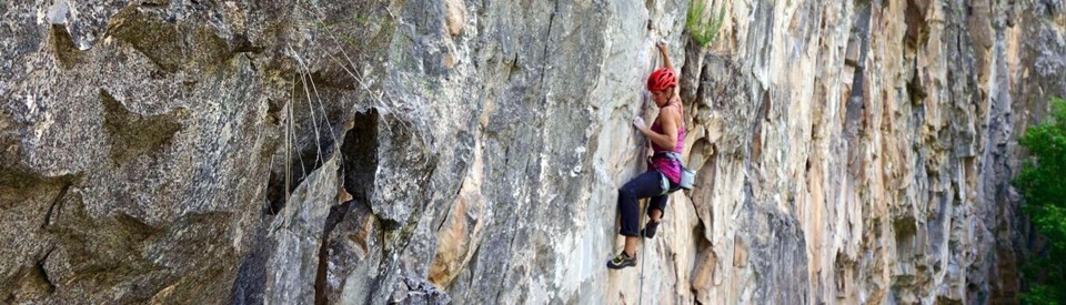 Chick Climbing