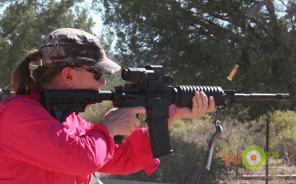 Barbara Baird AR Gunsite Academy Bushmaster EOTech