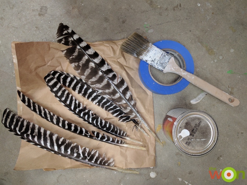 DIY-turkey-feather-art-supplies