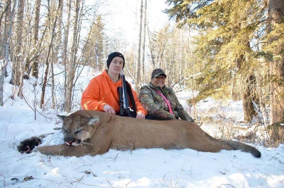 Claudette-Chorney-Hunting-Guide-Client James and his B&C Cougar