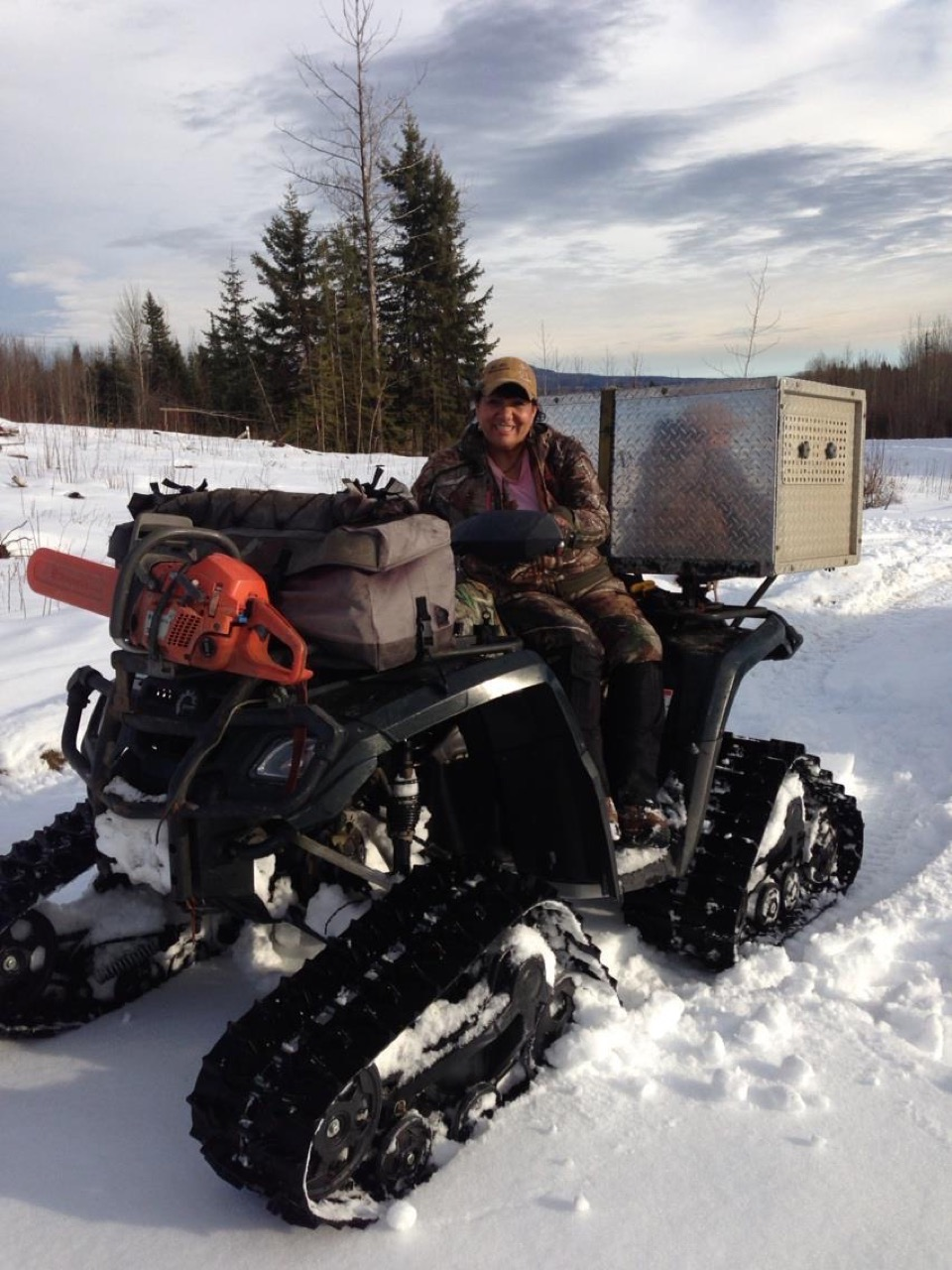 Claudette-Chorney-Hunting-Guide-four-wheeler