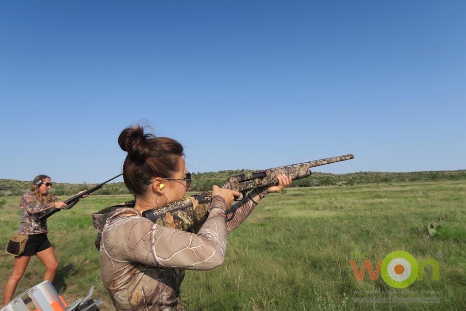 clay shooting with Amy Rutzen Remington