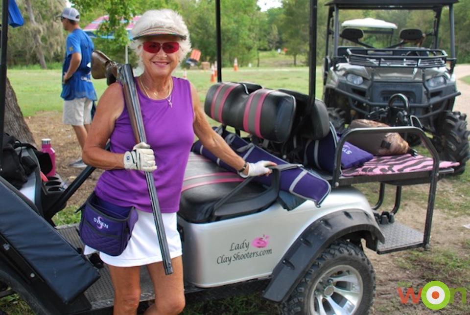 BGarney with cart Barbara Garney