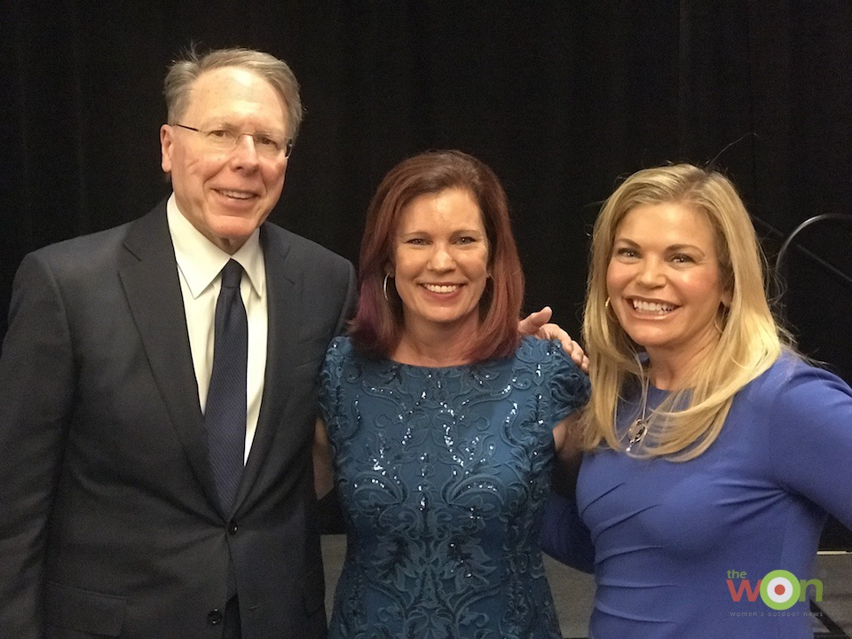 Carrie Lightfoot, founder of The Well Armed Woman, with Wayne and Susan LaPierre