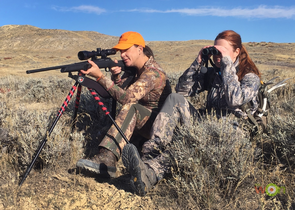 My hunting partner Danielle and I on the lookout