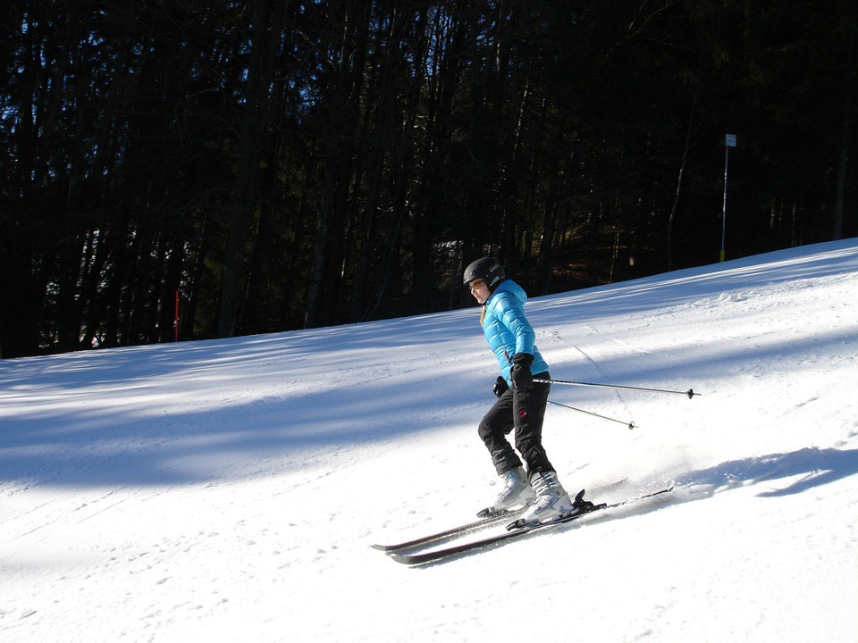 Down-hill-skiing Terrain-Based Learning