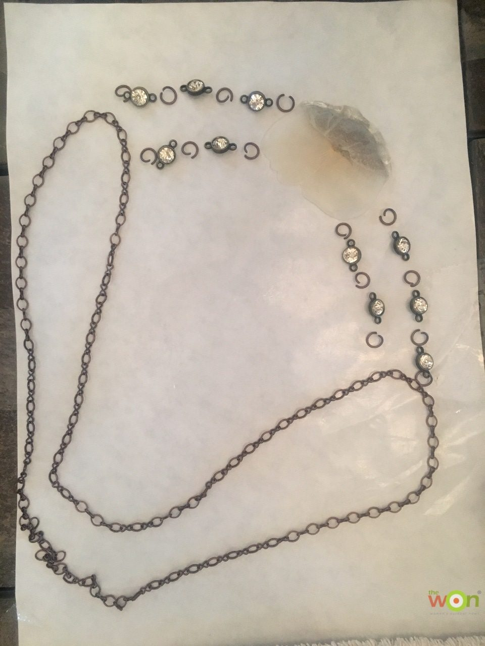Tarpon scale necklace materials