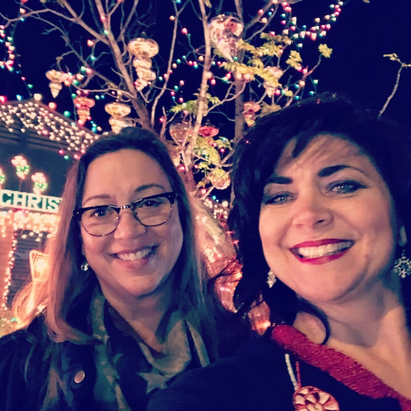 Barbara Baird and Cheryl Todd on Candy Cane Lane